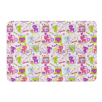 My Loving Dogs by Julia Grifol Bath Mat Size: 24 W x 36 L