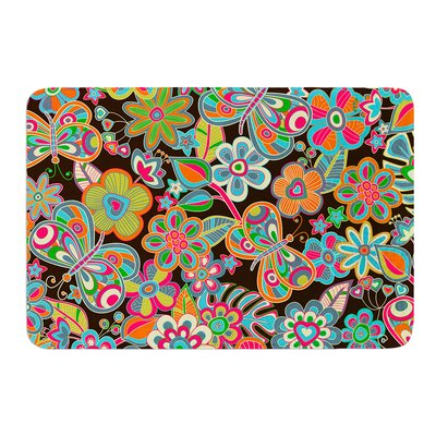 My Butterflies and Flowers by Julia Grifol Bath Mat Size: 24 W x 36 L