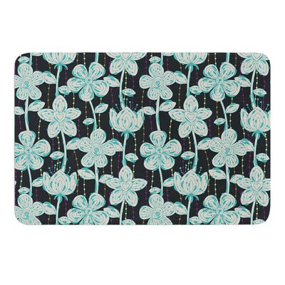 My Grey Spotted Flowers by Julia Grifol Bath Mat Size: 17 W x 24 L