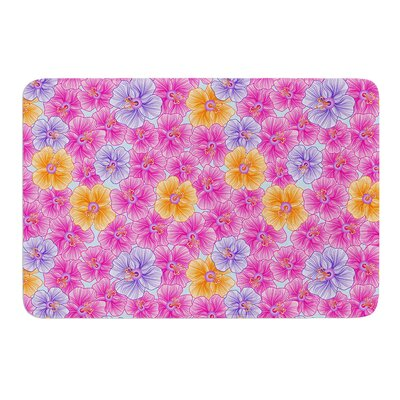 My Pink Garden by Julia Grifol Bath Mat Size: 24 W x 36 L