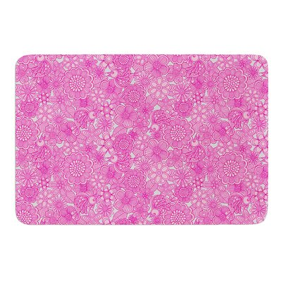 Welcome Birds To My Pink Garden by Julia Grifol Bath Mat Size: 17 W x 24 L