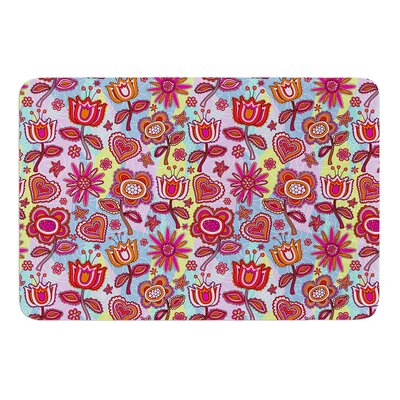 My Folk Flowers by Julia Grifol Bath Mat Size: 17 W x 24 L