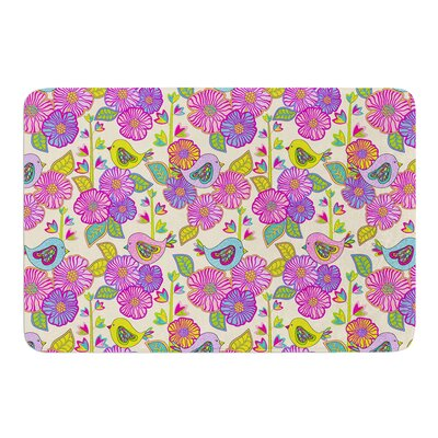 My Birds and My Flowers by Julia Grifol Bath Mat Size: 17 W x 24 L