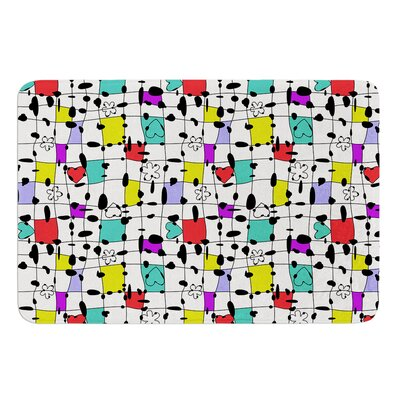 My Happy Squares by Julia Grifol Bath Mat Size: 17 W x 24 L