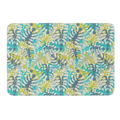 Tropical Leaves by Julia Grifol Bath Mat Size: 17 W x 24 L