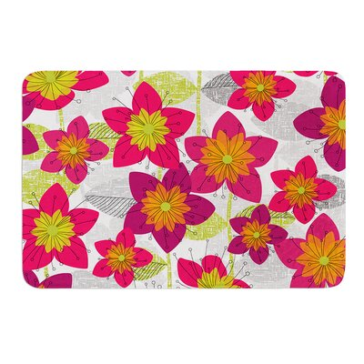 Star Flower by Jacqueline Milton Bath Mat Size: 24 W x 36 L