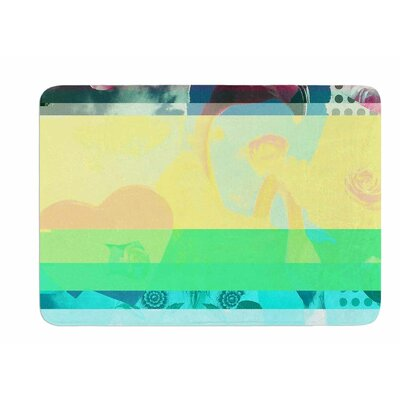 Flamingo Attack by Jina Ninjjaga Bath Mat