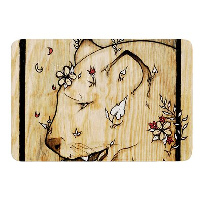 Panther by Jennie Penny Bath Mat Size: 24 W x 36 L