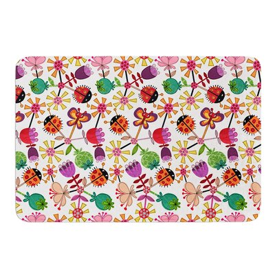 Garden Floral by Jane Smith Bath Mat Size: 24 W x 36 L