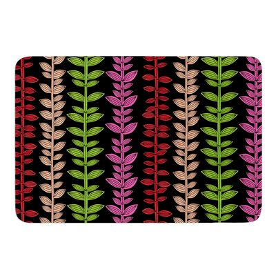Garden Vine and Leaf by Jane Smith Bath Mat Size: 17 W x 24 L