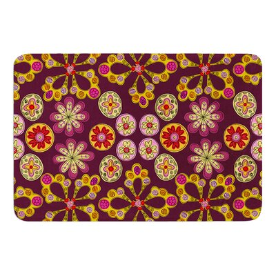 Indian Jewelry Floral by Jane Smith Bath Mat Size: 24 W x 36 L
