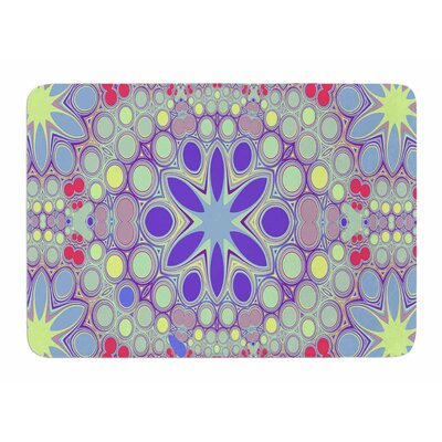 Hippy Flowers by Alison Coxon Bath Mat