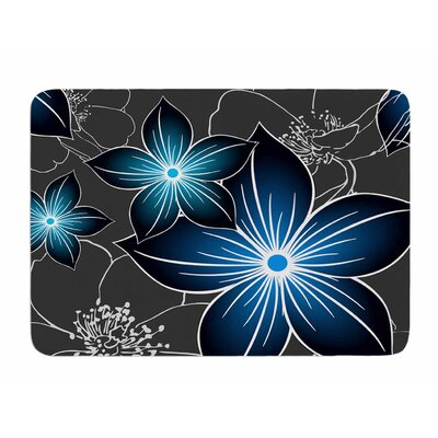 Charcoal and Cobalt by Alison Coxon Bath Mat