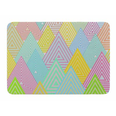 Pastel Mountains by Angelo Carantola Bath Mat