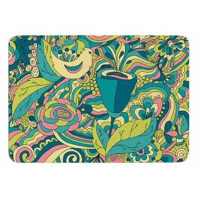 Birds in Garden by Alisa Drukman Bath Mat