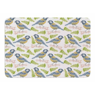 Bird. Tit by Alisa Drukman Bath Mat