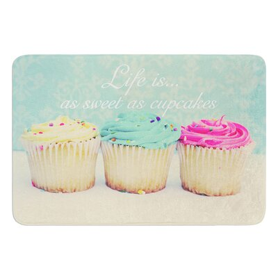Life Is As Sweet As Cupcakes by Beth Engel Bath Mat Size: 17W x 24L