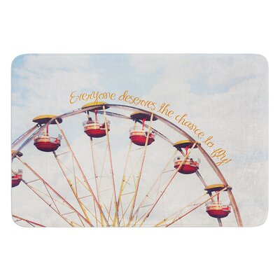 The Chance To Fly by Beth Engel Bath Mat Size: 24 W x 36 L