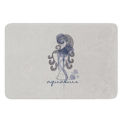 Aquarius by Belinda Gillies Bath Mat Size: 17W x 24L