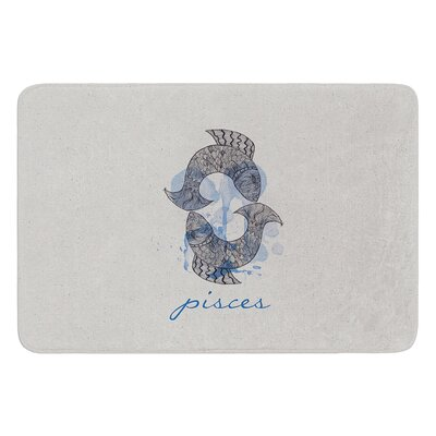Pisces by Belinda Gillies Bath Mat Size: 17