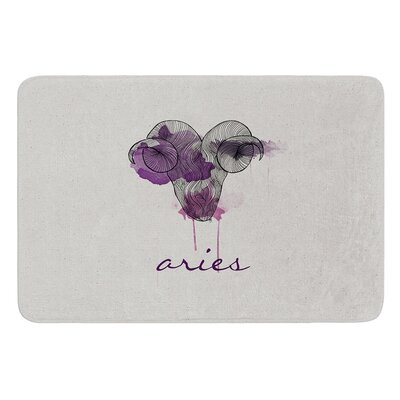 Aries by Belinda Gillies Bath Mat Size: 24 W x 36 L
