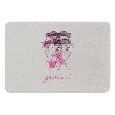 Gemini by Belinda Gillies Bath Mat Size: 24 W x 36 L