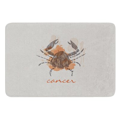 Cancer by Belinda Gillies Bath Mat Size: 24 W x 36 L