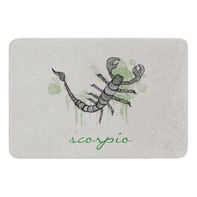 Scorpio by Belinda Gillies Bath Mat Size: 24 W x 36 L