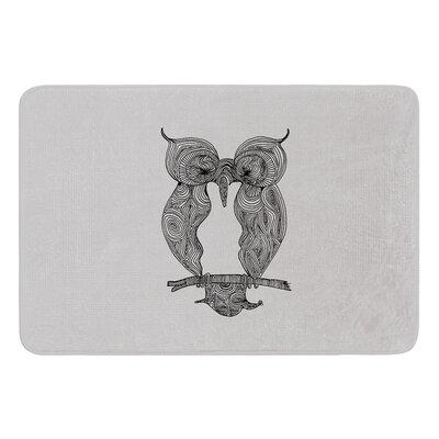 Owl by Belinda Gillies Bath Mat Size: 17W x 24L