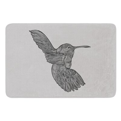 Hummingbird by Belinda Gillies Bath Mat Size: 17W x 24L