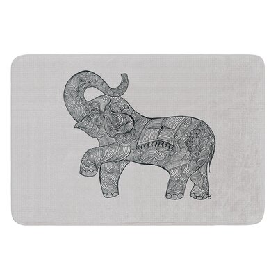 Elephant by Belinda Gillies Bath Mat Size: 17W x 24L