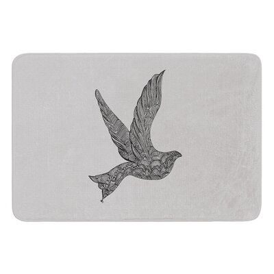 Dove by Belinda Gillies Bath Mat Size: 17W x 24L