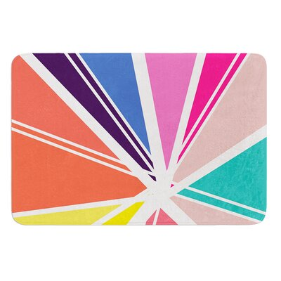 Boldly Bright by Belinda Gillies Bath Mat Size: 17W x 24L