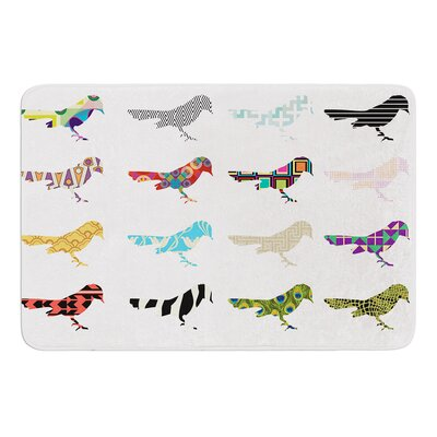 Birds by Belinda Gillies Bath Mat Size: 17W x 24L