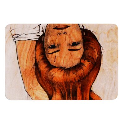 Girl by Brittany Guarino Bath Mat Size: 17