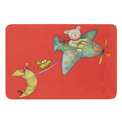 I Will Bring You The Moon by Carina Povarchik Bath Mat Size: 17W x 24 L
