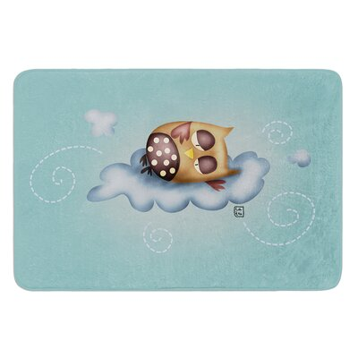 Sleepy Guardian by Carina Povarchik Bath Mat Size: 17W x 24 L