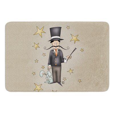 Circus Magician by Carina Povarchik Bath Mat Size: 17W x 24 L