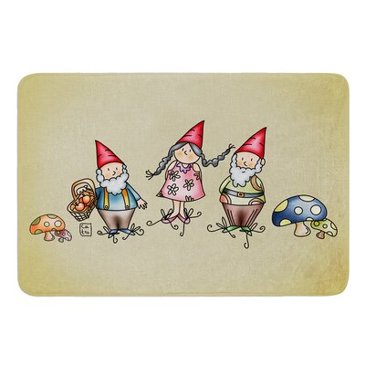 Gnomes by Carina Povarchik Bath Mat Size: 17