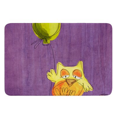 Owl Balloon by Carina Povarchik Bath Mat Size: 24 W x 36 L