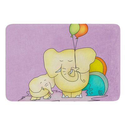 Party Time by Carina Povarchik Bath Mat Size: 24 W x 36 L