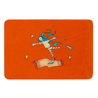 Being Free by Carina Povarchik Bath Mat Size: 24 W x 36 L