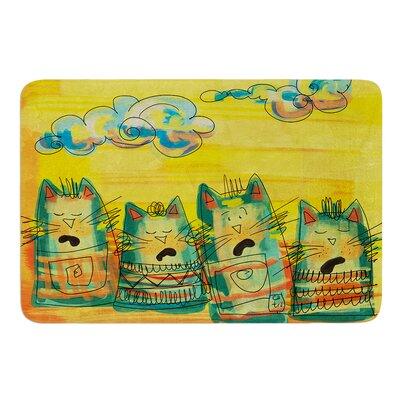 Singing Cats by Carina Povarchik Bath Mat Size: 17W x 24 L