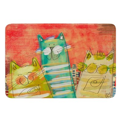 Gatos by Carina Povarchik Bath Mat Size: 24 W x 36 L