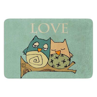 Lechuzas Love by Carina Povarchik Bath Mat Size: 17W x 24 L