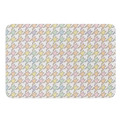 Pastel Houndstooth by Empire Ruhl Bath Mat Size: 17W x 24 L