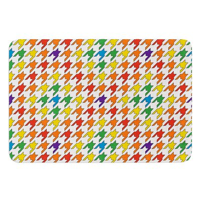 Rainbow Houndstooth by Empire Ruhl Bath Mat Size: 17W x 24 L