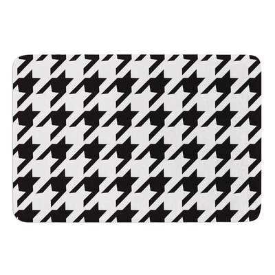 Spacey Houndstooth by Empire Ruhl Bath Mat Size: 17W x 24 L