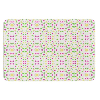 Neon Triangles by Empire Ruhl Bath Mat Size: 17W x 24 L