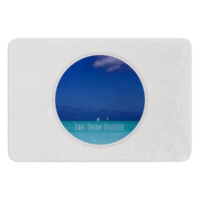 Dare Dream Discover by Deepti Munshaw Bath Mat Size: 24 W x 36 L